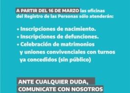 EN EL REGISTRO DE LAS PERSONAS SÓLO SE INSCRIBIRÁN NACIMIENTOS, DEFUNCIONES Y MATRIMONIOS SIN PÚBLICO