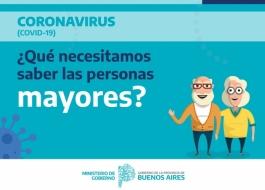 El gobierno de la provincia de Buenos Aires realizó una guía con recomendaciones generales para el cuidado de personas mayores f