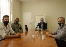Costantino mantuvo una reunión de trabajo con el intendente de Tapalqué