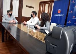 El subsecretario de Transporte, Alejo Supply, puso en funciones una impresora de licencias de conducir en Pigüé.
