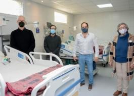 Gollan, Simone y Maggiotti inauguraron el Hospital Respiratorio Municipal de Navarro