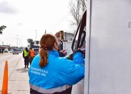 Agentes de la Subsecretaría de Transporte a cargo de Alejo Supply levaron adelante importante operativo