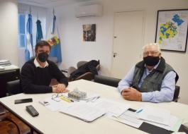 El subsecretario de Transporte Alejo Supply se reunió con Oscar Ostoich
