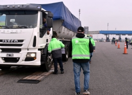 Se realizó un operativo de control de camiones de carga en Hudson