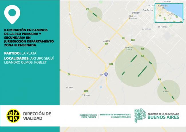 La Plata y Berisso: se licitó la instalación de nuevas luminarias