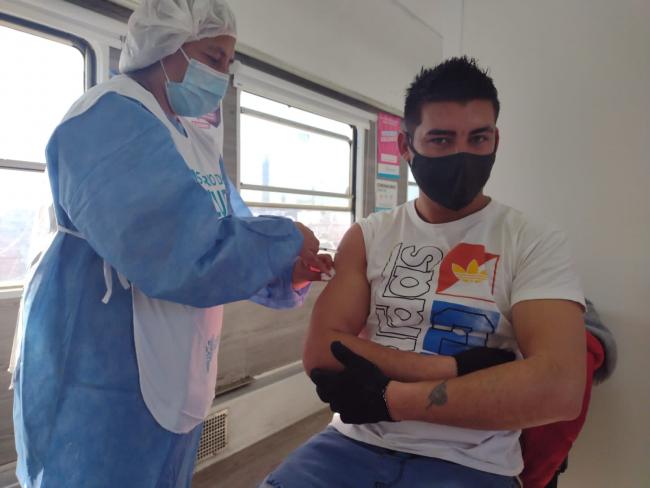 Vacunación en el tren sanitario