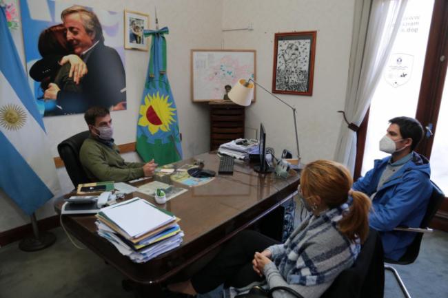 La ministra se reunió con el intendente Ustarroz