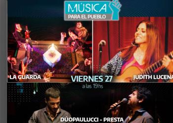 El tango y el folklore serán protagonistas en Música para el Pueblo