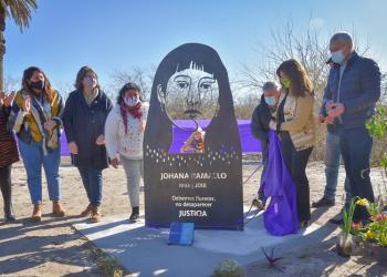 Señalización en Berisso a cuatro años de la desaparición de Johana Ramallo