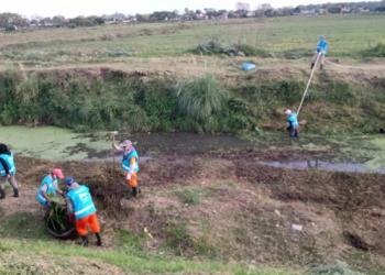 Se realizaron operativos de limpieza y mantenimiento hídrico