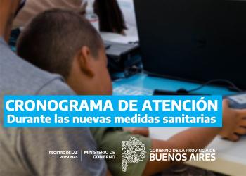 Registro Provincial de las Personas informa las siguientes modificaciones en el esquema de atención al ciudadano en sus delegaci