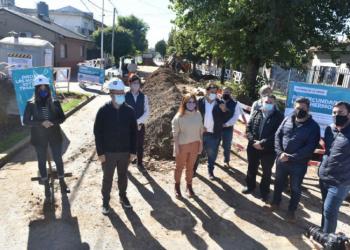 Thea recorrió obras de infraestructura en Tres de Febrero