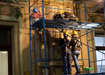 Avanzan las tareas de restauración del interior de la Casa de Gobierno