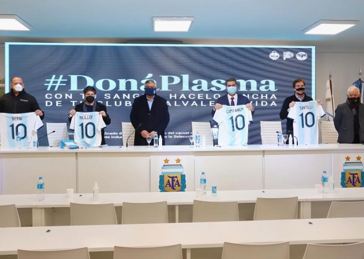 En la sede de la Asociación del Fútbol Argentino