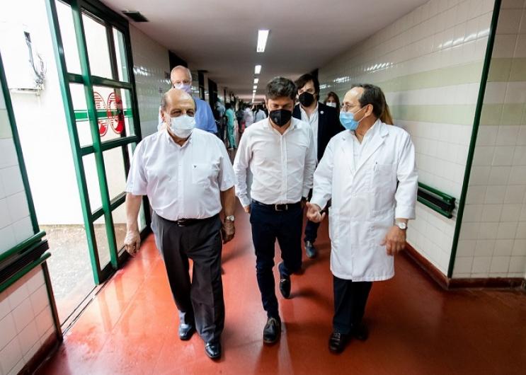 Kicillof visitó el Hospital Evita Pueblo
