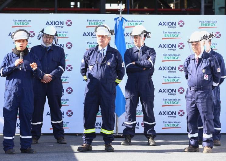 Kicillof participó junto al Presidente de la inauguración de una planta de producción de diésel Premium en Campana.