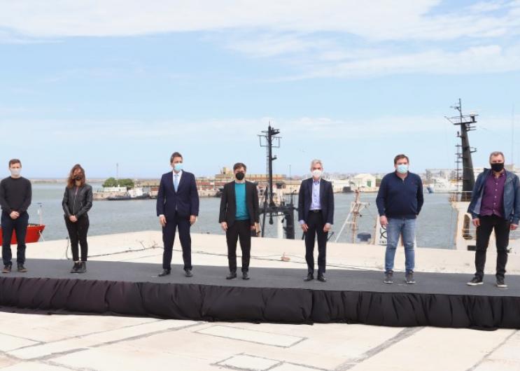 Kicillof suscribió acuerdos con el Gobierno nacional para financiar el dragado del puerto de Mar del Plata y mejorar la logístic