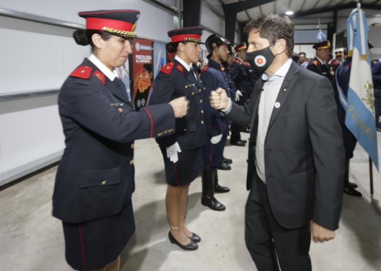 Kicillof participó de la inauguración del primer centro de entrenamiento de bomberos voluntarios