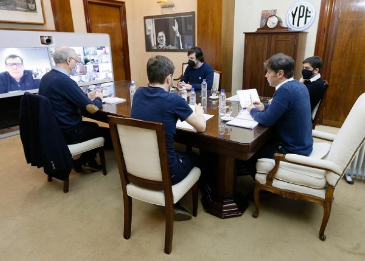 Mesa de trabajo con intendentes de la costa atlántica