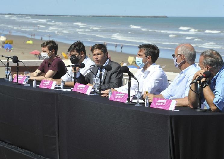 Conferencia de prensa en Necochea
