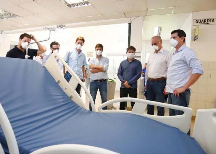 Estuvieron presentes el ministro de Infraestructura, Agustín Simone y el director del Hospital Pablo Cassiani