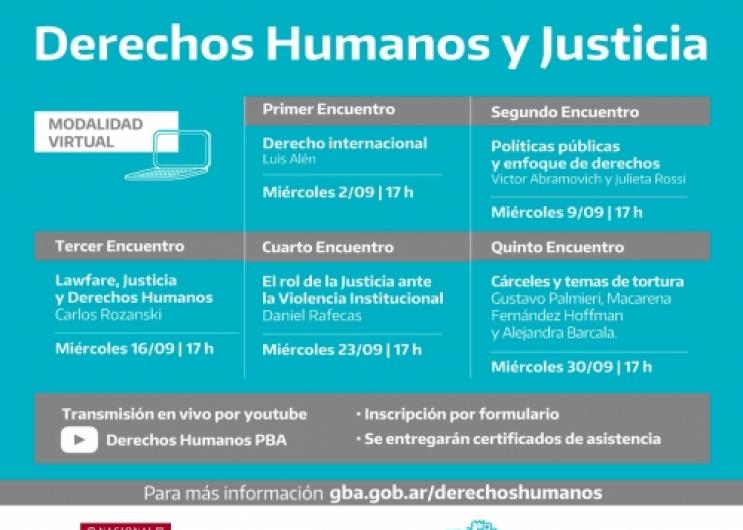 """Ciclo de Formación """"Derechos Humanos y Justicia"""""""