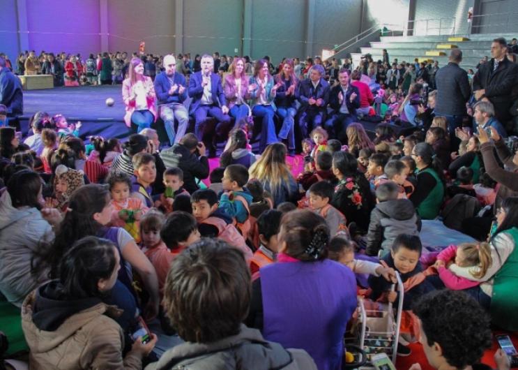 El ministro de Desarrollo Social, Santiago López Medrano, participó de los festejos