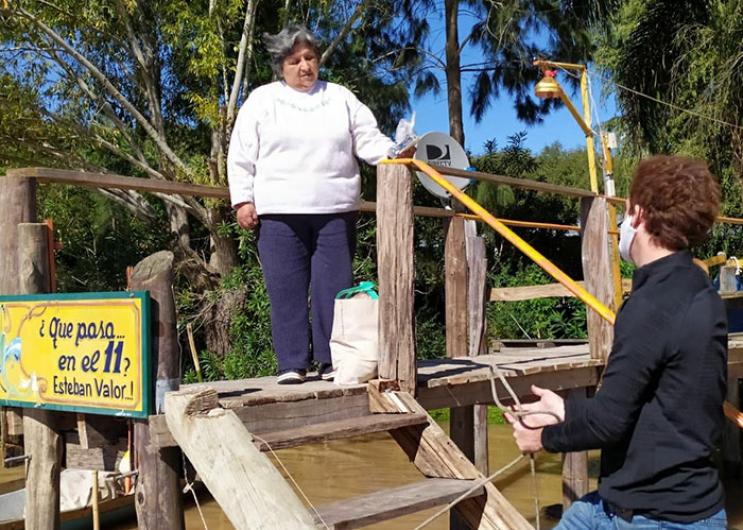 El ministerio de Gobierno a través de la Dirección Provincial de Islas lleva a delante tareas de asistencia para las familias qu