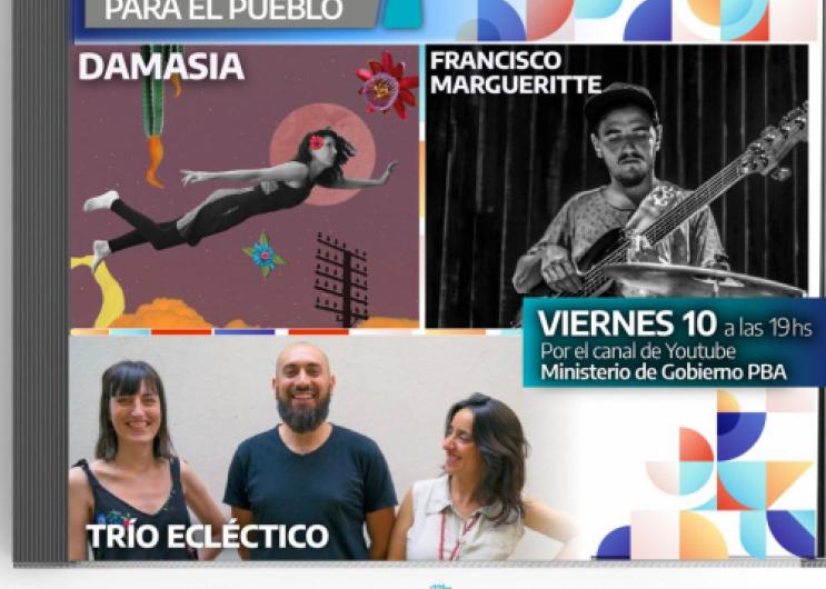 El viernes 10, a las 19 h, estarán presentesDama Asia, Francisco Margueritte y el Trío Eclécticoa través del canal de YouTube