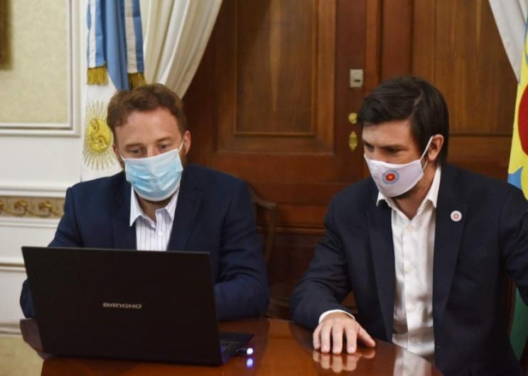 Thea y Otermín firman acuerdo para digitalizar trámites legislativos