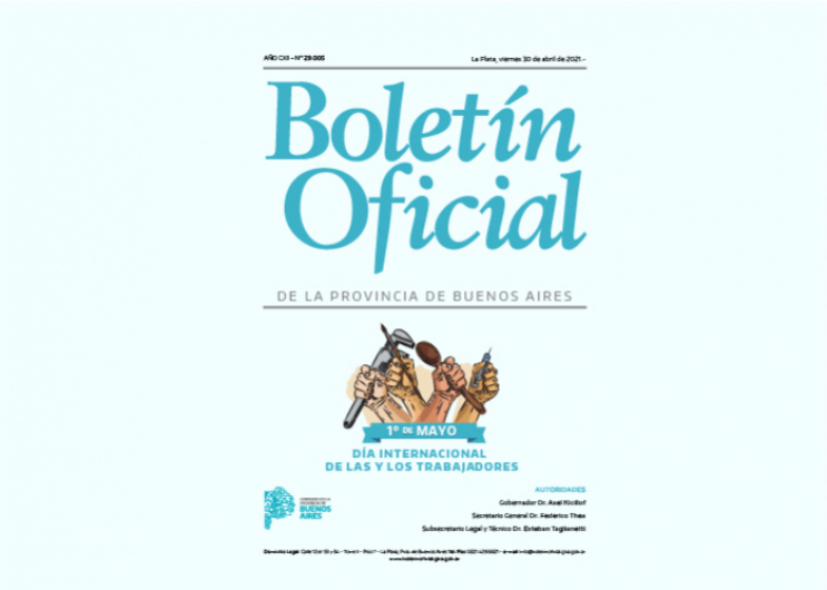 El Boletín Oficial conmemora el Día Internacional de las y los trabajadores