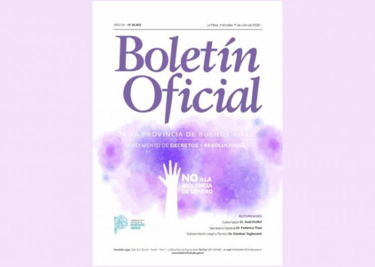El Boletín Oficial se suma a la campaña contra la violencia de genero