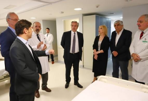Fernández, Kicillof y Moyano pusieron en marcha el Sanatorio Antártida para atención de pacientes con COVID-19