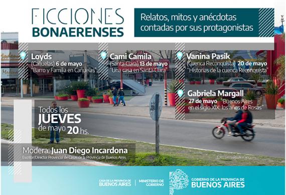 Agenda Ficciones Bonaerenses para mayo
