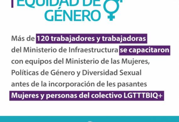 Trabajadores y trabajadoras del ministerio se capacitaron en género