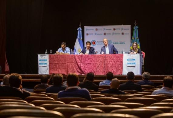 Reunión de Axel Kicillof con intendentes previo a la cuarentena obligatoria.