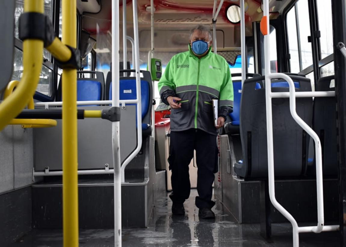 La Subsecretaría de Transporte realizó controles sanitarios en unidades de la empresa Unión Platense