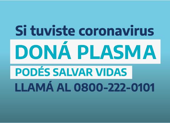 Si tuviste Coronavirus doná plasma